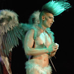 Legendary queens from San Fransisco, Peaches Christ and Lady Bear, bring their stage show BEARBARELLA to The Black Box for the Outburst 2014 Programme Launch